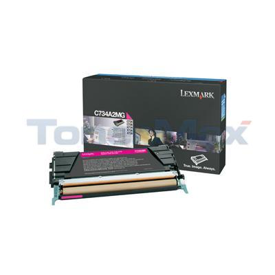 LEXMARK C734DN TONER CART MAGENTA 6K